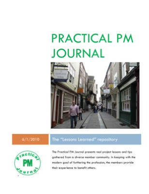 Practical PM Journal Issue #1