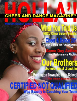 HOLLA'! Cheer & Dance Magazine Winter 2013 Issue
