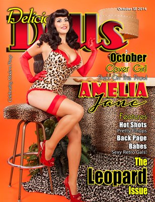 Delicious Dolls October Special Edition Leopard Issue - Amelia Jane Cover