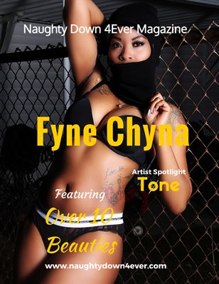 Naughty Down 4Ever Magazine - Mask N Lingerie Edition  (Fyne Chyna)