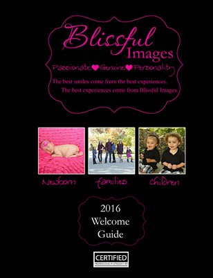 Blissful Images 2016 Welcome Guide