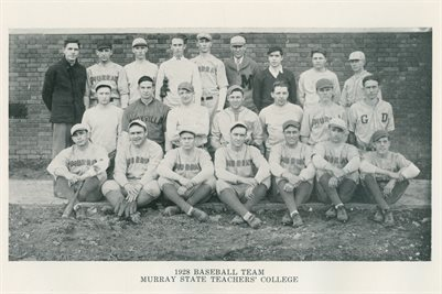 1927-28 BASEBALL TEAM MURRAY STATE TEACHER'S COLLEGE