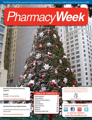 Pharmacy Week, Volume XXII - Issue 45 - December 22 - January 4, 2013
