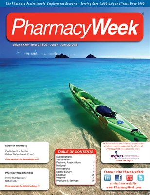 Pharmacy Week, Volume XXIV - Issue 21 & 22 - June 7 - June 20, 2015