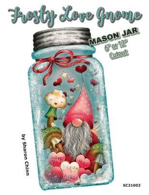 Frosty Love Gnome Mason Jar Painting Pattern by Sharon Chinn - SC21002