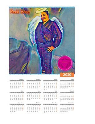 Redd Bone Ample Angelz 2020 Calendar