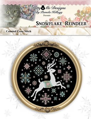 Snowflake Reindeer Cross Stitch Pattern