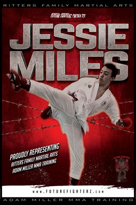 Jessie Miles Red Barb Wire Poster
