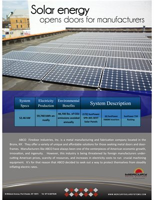 ABCO Steel Door & Mercury Solar Systems Case Study