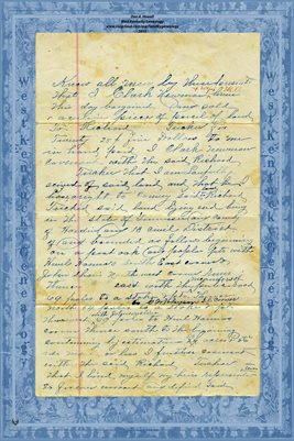 1899 CLARK NEWMAN TO RICHARD TUCKER, HARDIN COUNTY, TENNESSEE