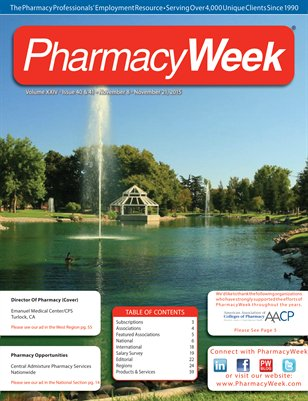 Pharmacy Week, Volume XXIV - Issue 40 & 41 - November 8 - November 21, 2015