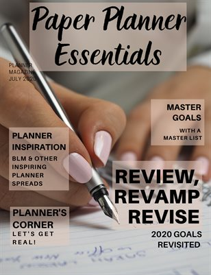Paper Planner Essentials July 2020