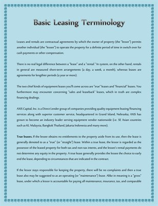 Basic Leasing Terminology