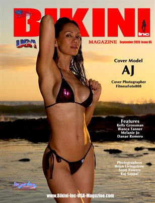 BIKINI INC USA MAGAZINE - Cover Model AJ - September 2020
