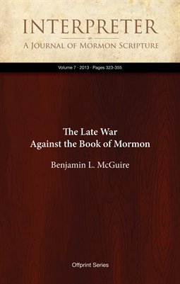 The Late War Against the Book of Mormon