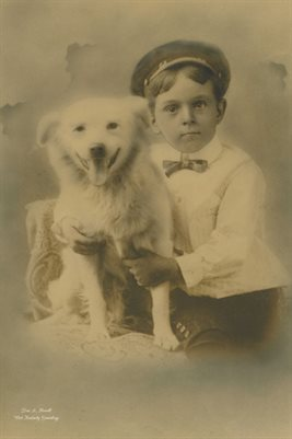 UNKNOWN MARSHALL COUNTY, KENTUCKY BOY & DOG