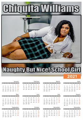 Chiquita Williams 'Naughty But Nice!' 2021 Calendar