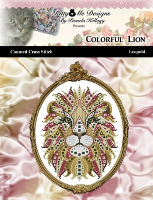 Colorful Lion Leopold Counted Cross Stitch Pattern