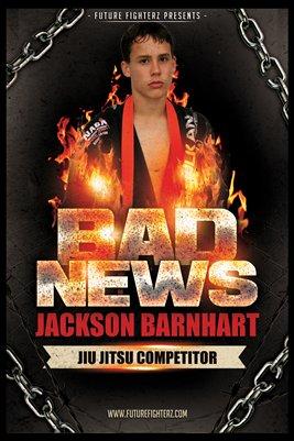Jackson Barnhart Flames Poster