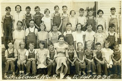 """SEPT. 1935 DUBLIN """"DUBLAND"""" SCHOOL GRADES 3-4"""