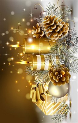 Golden Christmas Warmth & Love