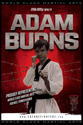 Adam Burns Red Barb Wire Poster
