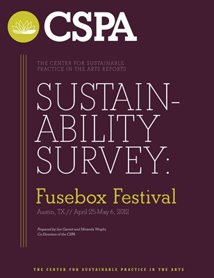 CSPA Sustainability Survey: Fusebox Festival