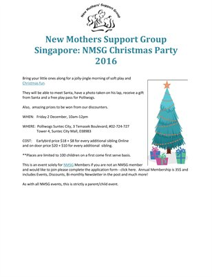 New Mothers Support Group Singapore: NMSG Christmas Party 2016