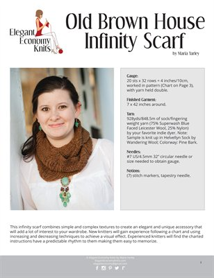 Old Brown House Infinity Scarf
