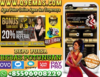 Q9EMAS.COM Deposit Pulsa OVO dan Dana Tanpa Potongan