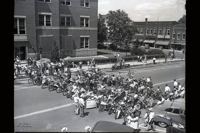 June 23, 1948 Bicycle Parade Montgomery Ward, Mayfield, Kentucky