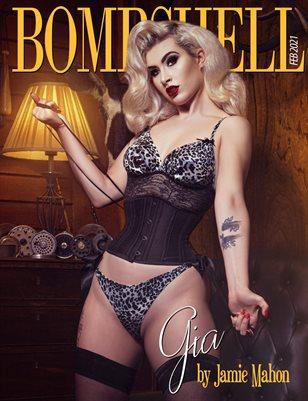 BOMBSHELL Magazine February 2021 - BOOK 1 - Gia Cover