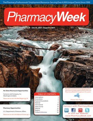Pharmacy Week, Volume XXVI - Issue 27 & 28 - July 23, 2017 - August 5, 2017