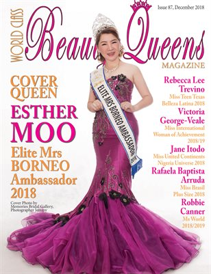World Class Beauty Queens Magazine Issue 87 with Esther Moo