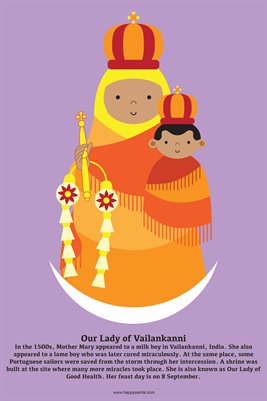 Happy Saints Our Lady of Vailankanni Poster