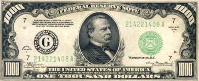 1,000 bill