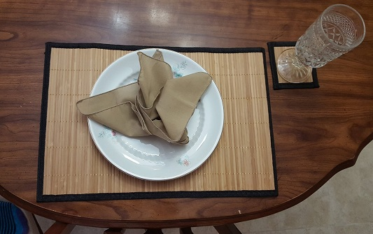 bamboo placemats with coaster