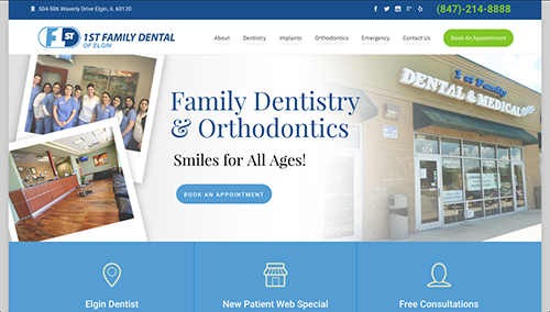 Elgin Dentist Website