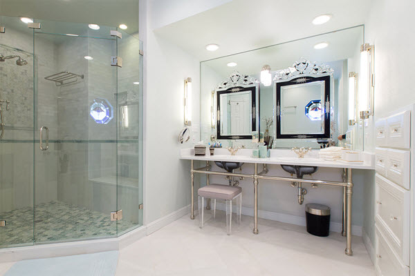 Recently completed bathroom renovation in Round Rock, Texas