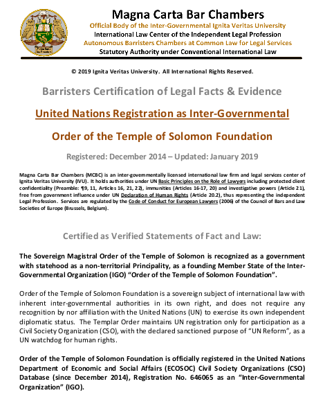 Templar United Nations Registration (Permanent) | edocr