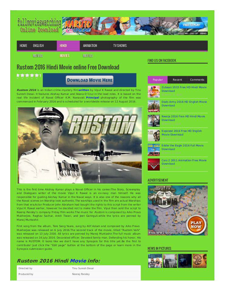 Rustom 2016 Hindi Movie online Free Download   edocr