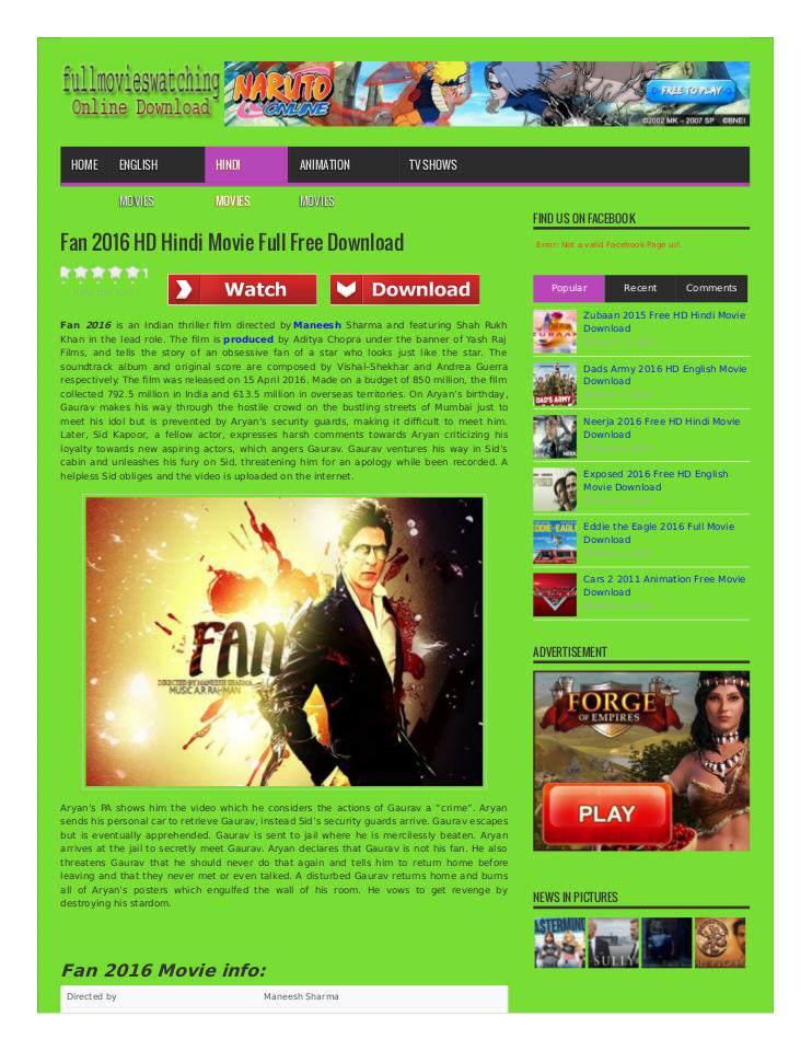 Fan 2016 HD Hindi Movie Full Free Download   edocr