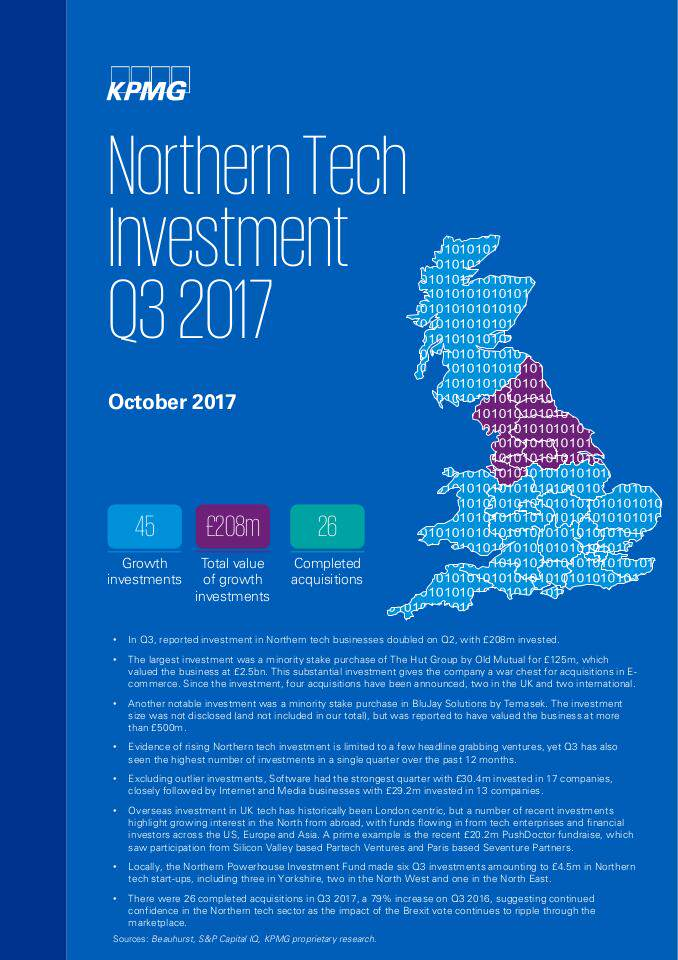Northern Tech Investment Q3 2017