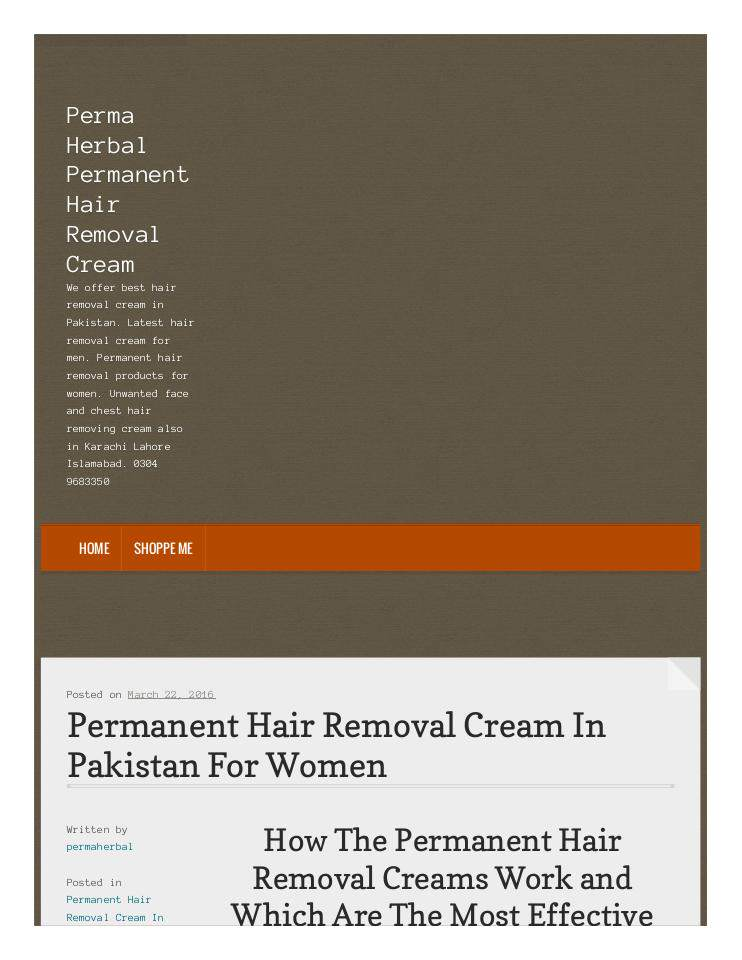 Hair Removal Cream For Women Edocr