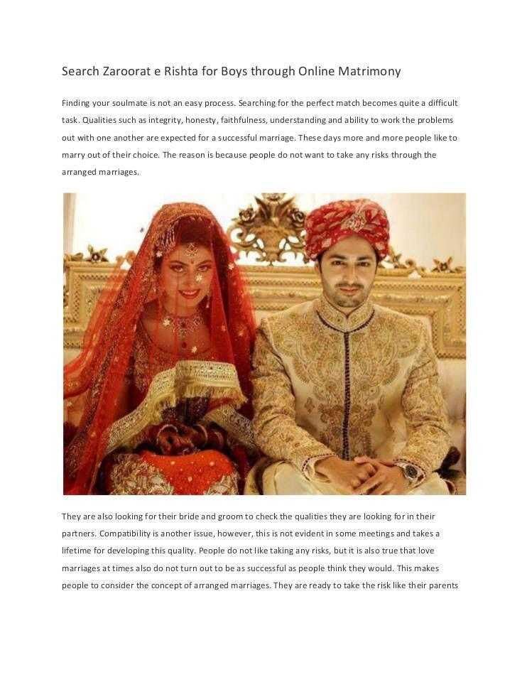 Search Zaroorat e Rishta for Boys through Online Matrimony | edocr