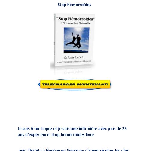 Telecharger Stop hemorroides pdf gratuit avis livre Anne