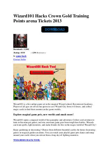 wizard101 hacks crown hack gold hack points hack generator