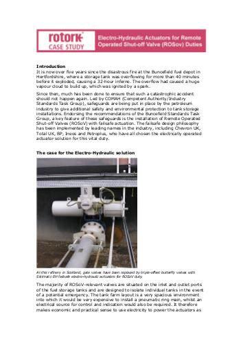Rotork Case Study - Electro-Hydraulic Actuators for Remote