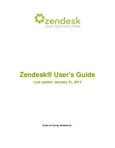 Zendesk User Guide | edocr