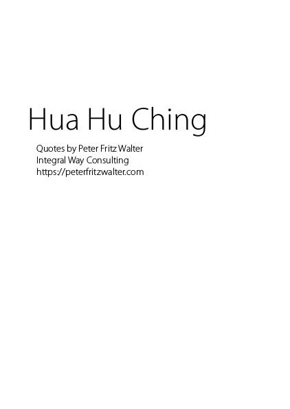 Hua Hu Ching Quotes